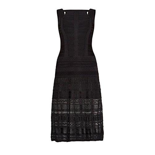 HLBCBG - Vestido - Sin mangas - para mujer