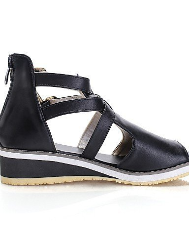 Office Peep Low Black Black amp; Comfort Heel White Dress Womens Career Toe Shoes Sandals ShangYi 7BInw8EqpW