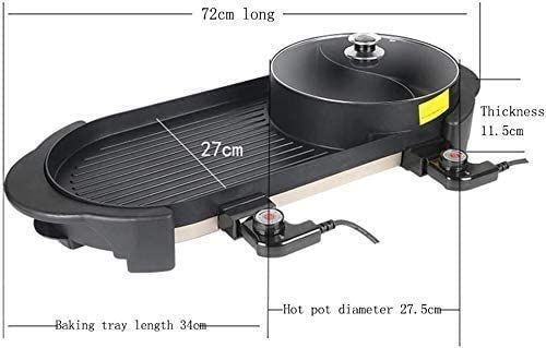 Cuisinière électrique portable Barbecue, Barbecue d'intérieur, chaud électrique Pot, grande capacité des ménages multi-fonctions non-Stick Coo GDSZMMLS