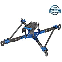 200 FPV Quadcopter Frame of Carbon Fiber Racing Drone with CNC Aluminum Alloy Base 4mm Thickness Vertical Arm Similar with QAV-X 210 QAV-R 250 RX210 Martian Frame