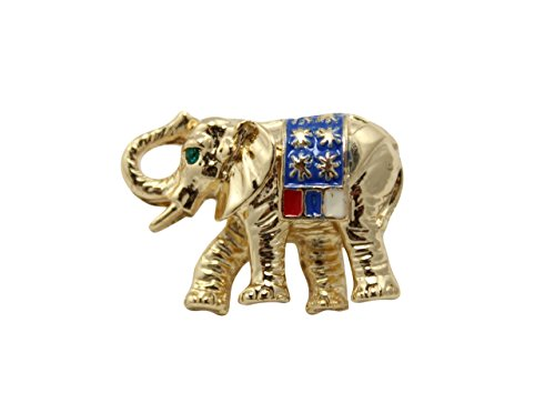 Pin Elephant Republican (MC Patriotic Republican Elephant Political American Tac Pin Gold Plated)