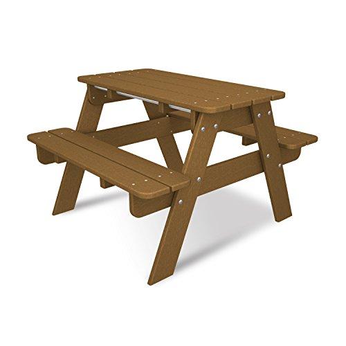 POLYWOOD KT130TE Kids Picnic Table, Teak