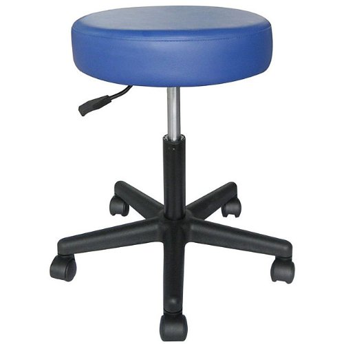 Sivan Health and Fitness MS02BLU Rolling Adjustable Stool for Massage Table, Blue
