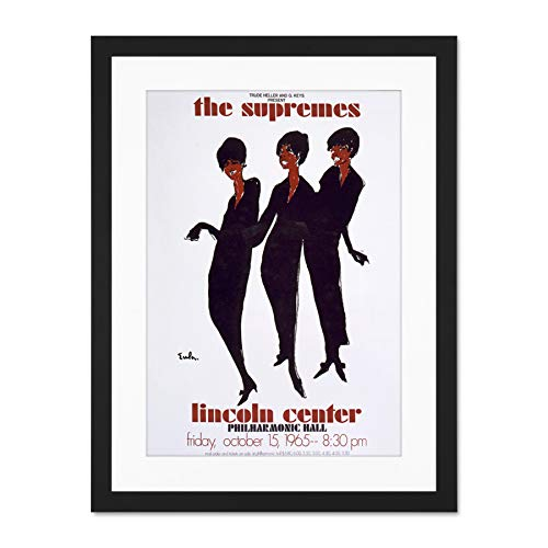 Wee Blue Coo Advert Cultural Concert Supremes Diana Ross Motown Large Art Print Poster Wall Decor 18x24 inch Supplied Ready to Hang with Included Mount Brackets ()