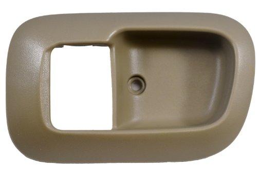 (PT Auto Warehouse TO-2530E-2FL - Inside Interior Inner Door Handle Trim/Bezel, Beige/Tan - Driver Side Front)