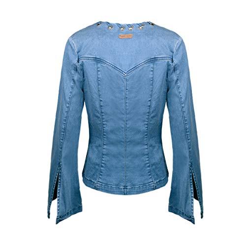 Jacket Denim W61XI9D1ZK0 Sleeve IT38 Blouson Bell Guess 34 Bellsleeve 4RwqaYXx