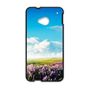 Personalized Creative Cell Phone Case For HTC M7,glam clouds sky and lavender field wangjiang maoyi