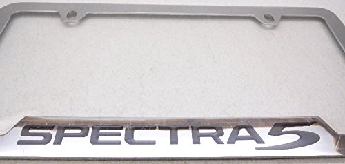 Kia Genuine Accessories UR010-AY105LD Chrome License Plate Frame Spectra 5-Door Hatchback