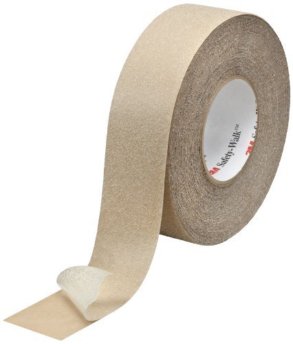 3M Safety-Walk Slip-Resistant General Purpose Tapes and Treads 620, Clear, 1'' Width, 60' Length (Pack of 4 Rolls)