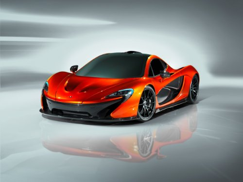 McLaren P1 2013 Car Art Poster Print on 10 mil Archival Satin Paper Orange