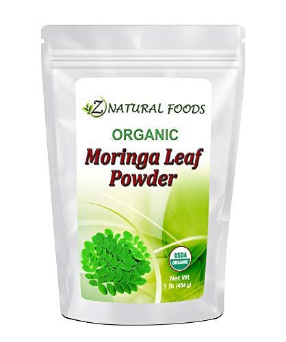 Organic Moringa Oleifera Leaf Powder - 100% Pure, Raw, Non GMO, Vegan & Kosher - Amazing In Smoothies, Drinks, Tea, Juice & Recipes - Energizing Green Superfood Packed With Vitamins & Minerals - 1 lb