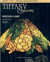 TIFFANY REVISITED - BEGONIA Stained Glass Lamp Pattern Book