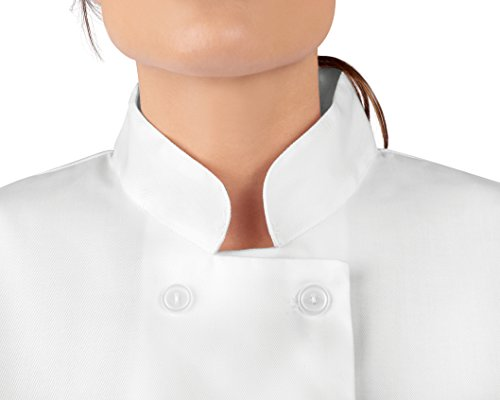 KNG Womens White Classic ¾ Sleeve Chef Coat, S by KNG (Image #6)