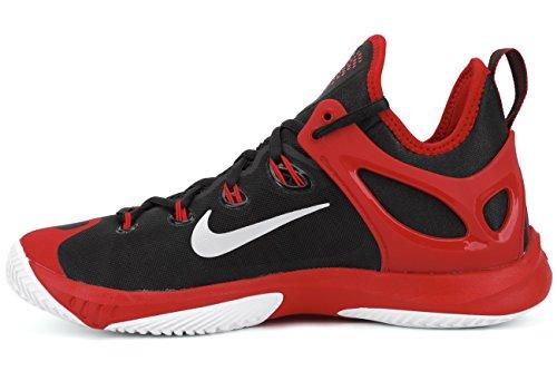 Nike Zoom Hyperrev 2015 Scarpe Da Baseball Da Uomo Nero / Argento / Rosso / Bianco (blk / Pr Pltnm-unvrsty Rd-white)