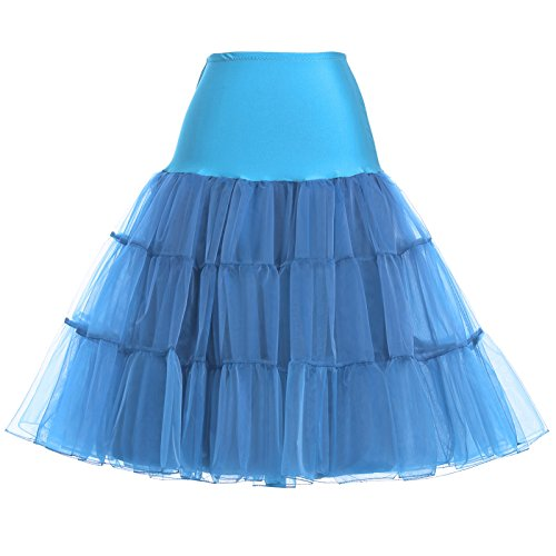 Fashion Wedding Tutu Plus Size Underskirts for Lady (1X,Sky Blue)]()