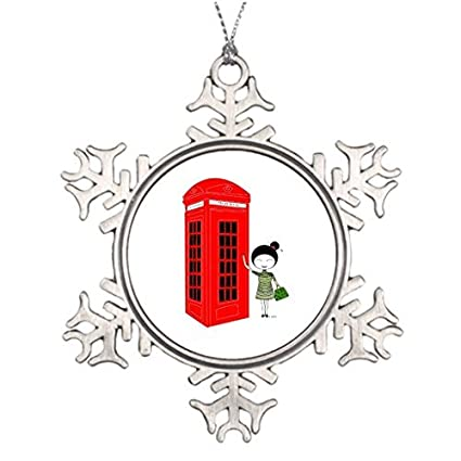 Amazon Com Venu67hol Tree Decorating Ideas Red Telephone Box In