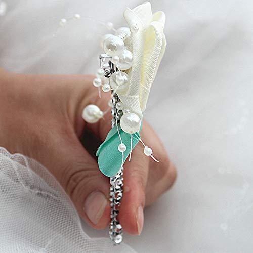 856store Novelty Fashion Faux Pearl Flower Rhinestone Brooch Pin Breastpin Women Jewelry - 03 by 856store (Image #3)