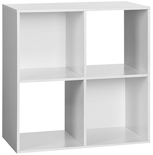 Shelf Bookcase One (OneSpace 4-Cube Organizer, White)