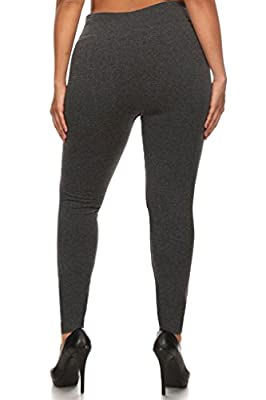 Verabella Women's Winter Plus Size Stretchy Fleece Lined Seamless Basic Leggings