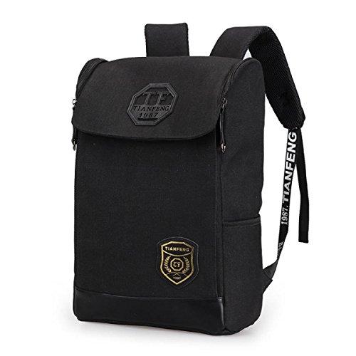 BULAGE Jungen Und Mädchen Schultern Männer Und Frauen Schulranzen College Wind Quadratischen Rucksack Reisen Laptop Tasche Black GclNgqNjb