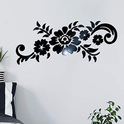 2019HoHo 3D DIY Wall Murals Modern Fashion Flower Shape Acrylic Bathroom Kitchen Adhesive Tile Art Metope Wall Decal - Ucla Acrylic
