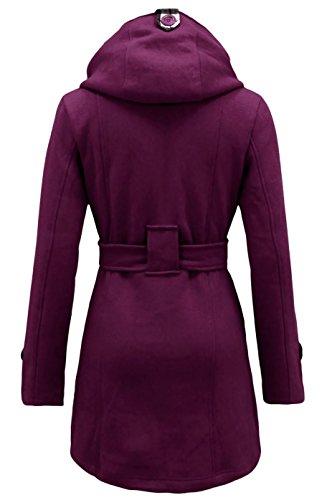 Noroze Purple pour Manteau avec femmes capuche arwSaqR