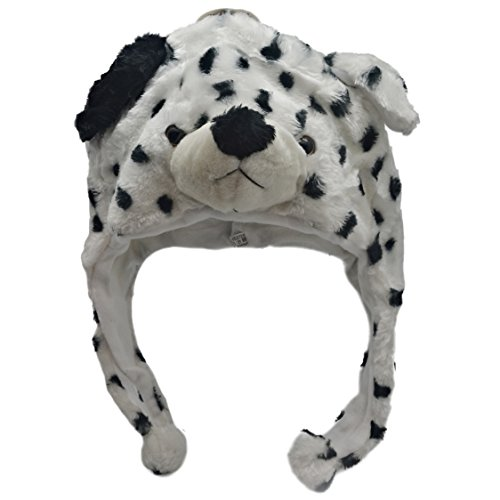 Plush Animal Hats for Kids - 'Assorted Hat-imals' Animal Hats - Critter Cap Cold Weather Winter Hat (Dalmation)