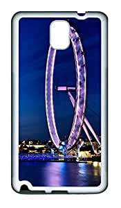 Samsung Note 3 Case London Eye At Night452 TPU Custom Samsung Note 3 Case Cover White