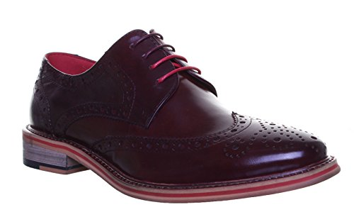 pour Homme Reece Ville Dover à Bordeaux Lacets de Justin Chaussures a84xCxq