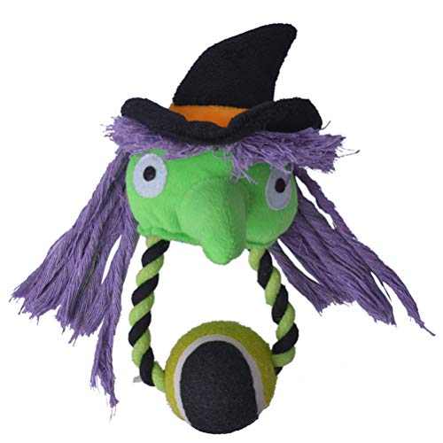 Halloween Dog Gifts (Halloween Dog Squeaky Toy with Tennis Ball Puppy Plush Chew)