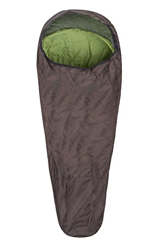 Blizzard Bag - Mountain Warehouse Bivvy Sleeping Bag - Compact Camping Bag Khaki