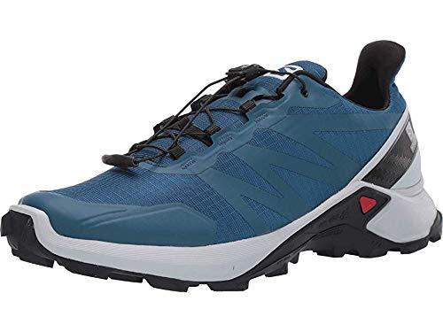 Salomon Men's Supercross Trail Running Shoes, Poseidon/Pearl Blue/Black, 14 by Salomon