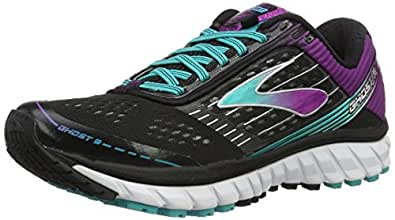 Brooks Women's Ghost 9 Black/Sparkling Grape/Ceramic Running shoes - 5 B(M) US
