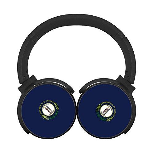 TRTRSCK Kentucky State Flag Fashion Wireless Headphones Best Headset Bluetooth Black