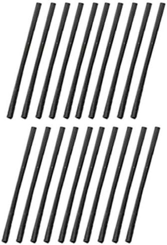 ブラック0.7mm樹脂ピアスポスト /20個セット キャッチピアス レディース プラスチック シャフト アクリル スタッドピアス シンプル 棒 バー ストレート 20G