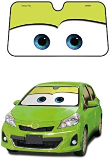 Cars Green Disney Pixar Movie Car Truck SUV Front Windshield Sunshade - Accordion Style