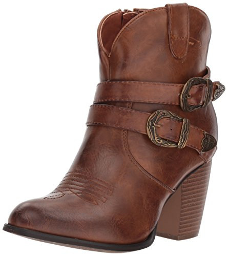Roper Women's Maybelle Fashion Boot, Brown, 7 Medium US - Roper Leather Fashion Boots