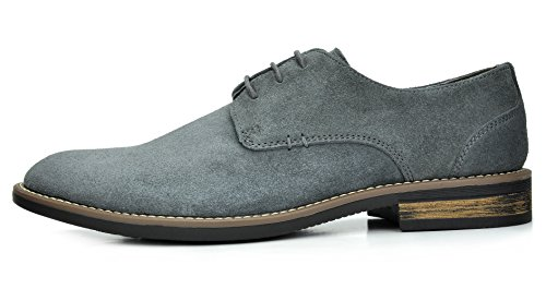 Leather grey Lace Bruno NEW BRUNO Urban Men's Marc Suede 8 Oxfords Shoes YORK MARC up 5CUzxqwz86