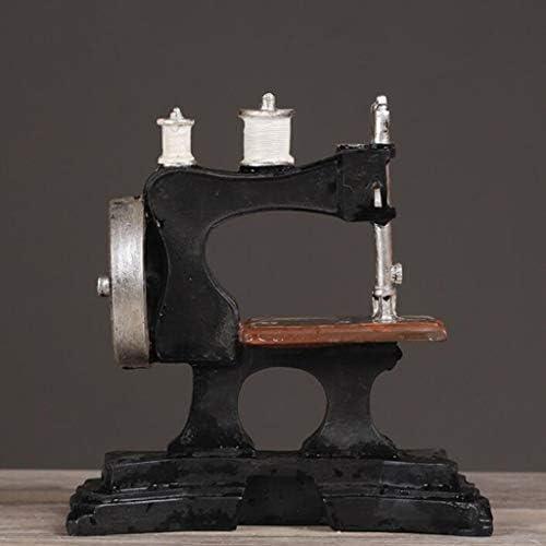 Máquina De Coser Europea Escultura Retro Resina Modelo Tienda De ...
