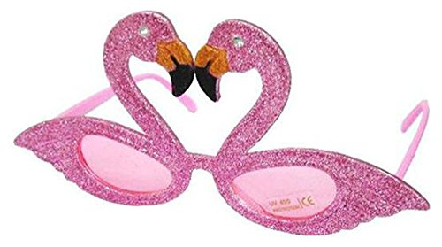 6 Pair Pink Glitter Flamingo Bird Novelty Party EYEGlasses - Costume Dressup - Sunglass New Companies