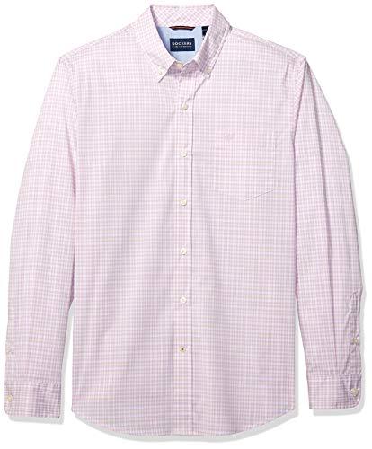 Dockers Men's Long Sleeve Button Front Comfort Flex Shirt, Charlton Lupine Plaid, X-Large ()