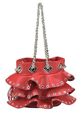Le Carrie Bag Damen MCGLBRE03024E Rot Leder Schultertasche