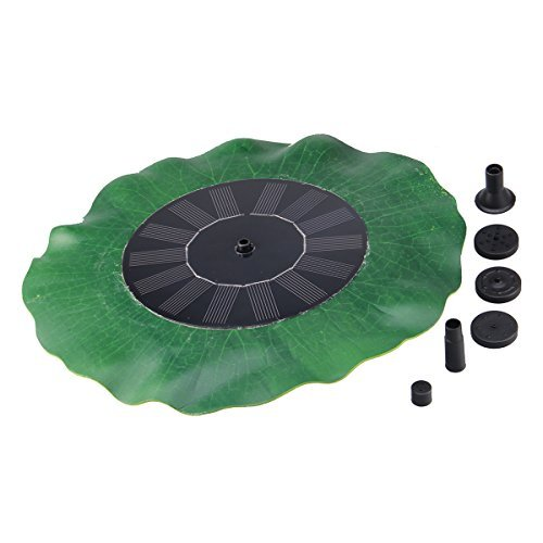 XKTTSUEERCRR 8V 1.4W Solar Energy Sun Powered Decorative Fountain with Highly Efficient Solar Panel and Brushless Pump for Birdbath Fountain Pool Garden by XKTTSUEERCRR
