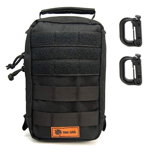 TwinJag Tactical Admin Molle Pouch - Resistant and Compact EDC Organizer - WaterResistant Gadget Utility Military Gear