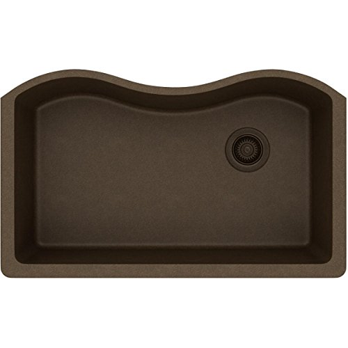 Elkay Quartz Classic ELGUS3322RMC0 Mocha Single Bowl Undermount Sink