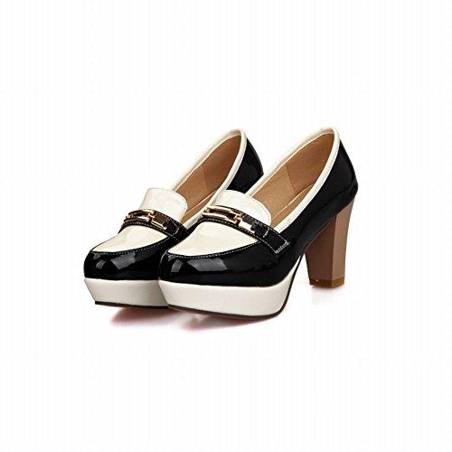 Carol Shoes Women's Concise Casual High Heel Platform Pumps Shoes Black lDw8v0