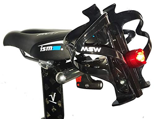Tri Bike Bottle Holder Dual Water Bottle Mount - Behind The Saddle - Includes Bottle Cages