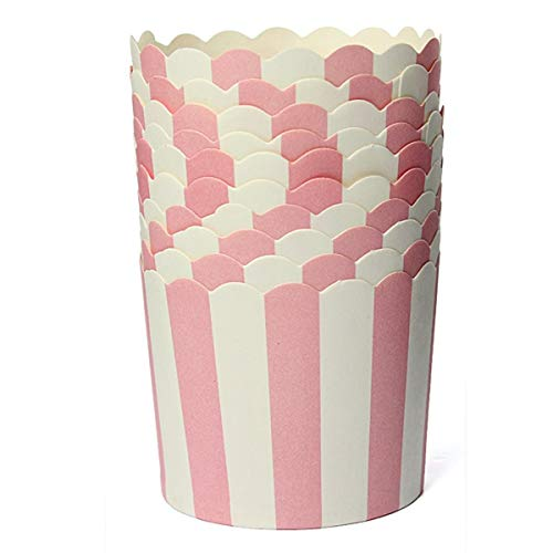50x Cupcake Wrapper Paper Cake Case Baking Cups Liner Muffin Pink Striped - Baking Cups]()