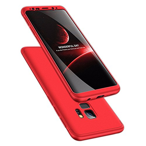 Galaxy S9 Case, ATRAING 3 in 1 Ultra-Thin PC Hard Case Cover for Samsung Galaxy S9 (Red)