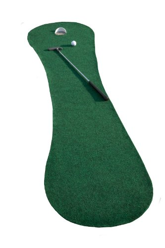 Putt-A-Bout Deluxe Par 1 Putting Mat with Cup, Green, 2 x 9-Feet